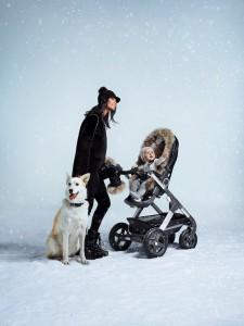 Stokke Stroller Winter Kit on Trailz Onyx Black 150519-0691